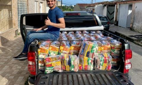 Solidariedade:Vítimas das chuvas em Maceió recebem doação de cestas básicas do Vereador João Catunda