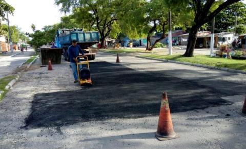 Avenida Senador Rui Palmeira recebe ações da operação tapa-buraco
