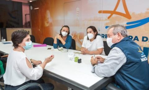Prefeito em exercício Ronaldo Lessa recebe visita para ampliar acessos aos serviços de saúde