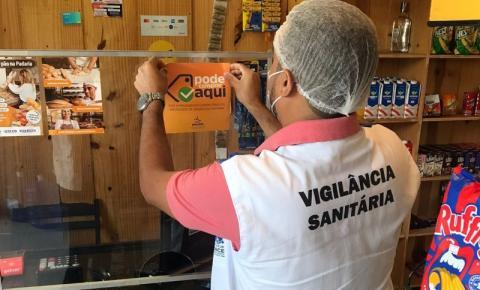 Vigilância Sanitária entregou 325 selos 'Pode Comprar Aqui' para estabelecimentos