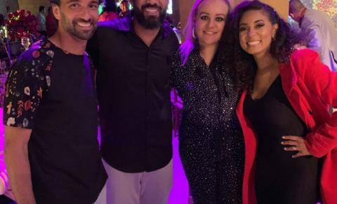Ticiana Nogueira participa de superfesta do jogador Cristian Baroni