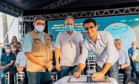 Emendas de JHC garante conclusão das obras da BR-416, que liga Ibateguara a Colônia Leopoldina